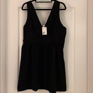 H&M V-neck Black Dress